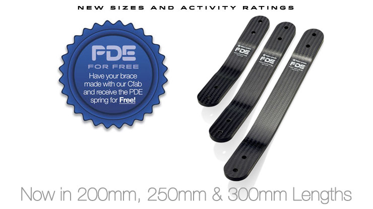 Now in 200, 250 and 300mm lengths! Purchase PDE as a do it yourself kit or have our Cfab make it for you and the PDE spring is FREE